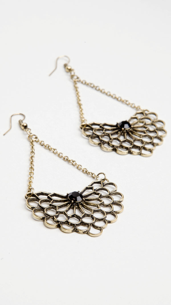 Web Chandelier Earrings