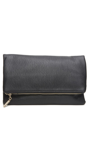 Textured Foldover Clutch