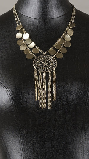 Boho Gypsy Pendant Necklace