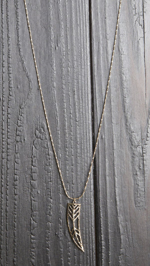 Antique Horn Charm Necklace
