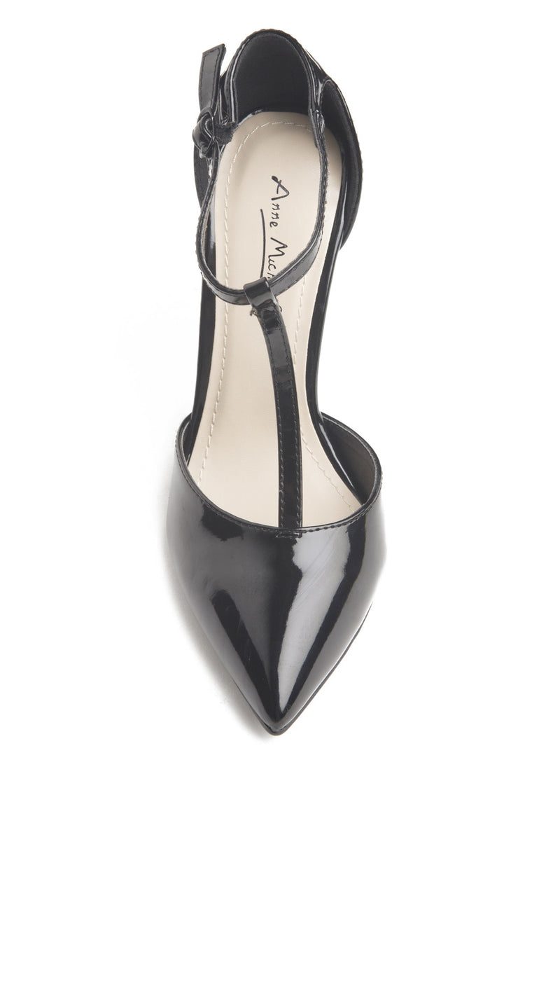 T-strap Pointed Toe Pump