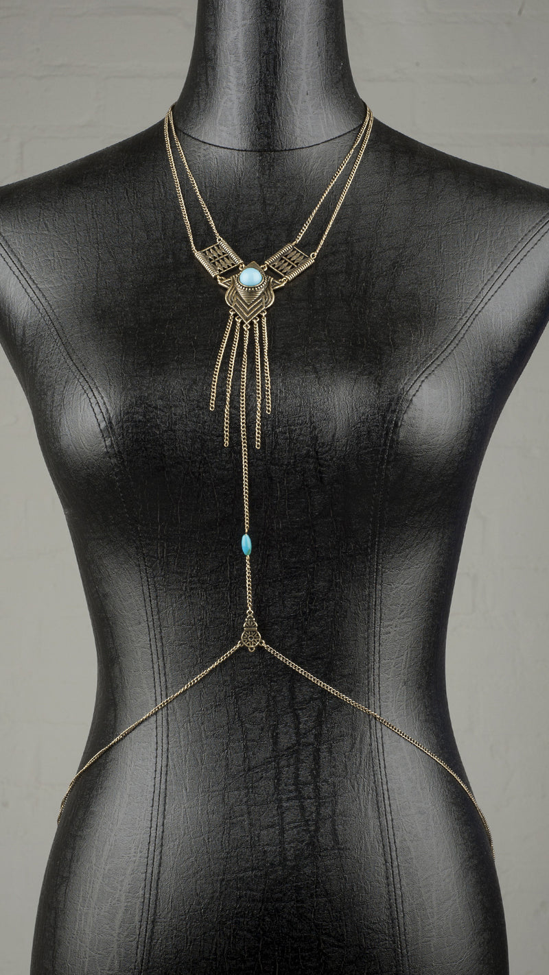 Bold Turquoise Body Chain - Msky