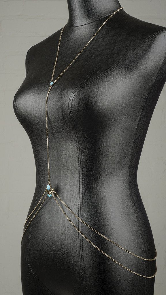 Simple Turquoise Detail Body Chain
