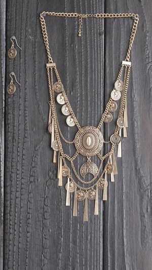 Coin Fringe Necklace - ANGL