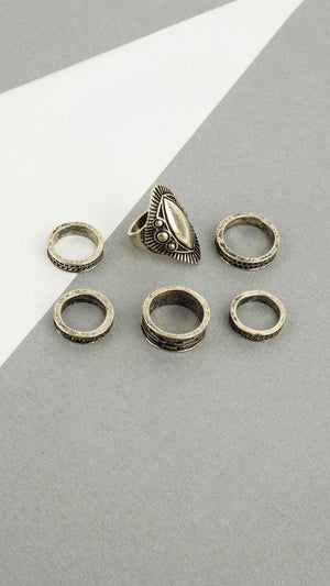 Aztec Multi Ring Set