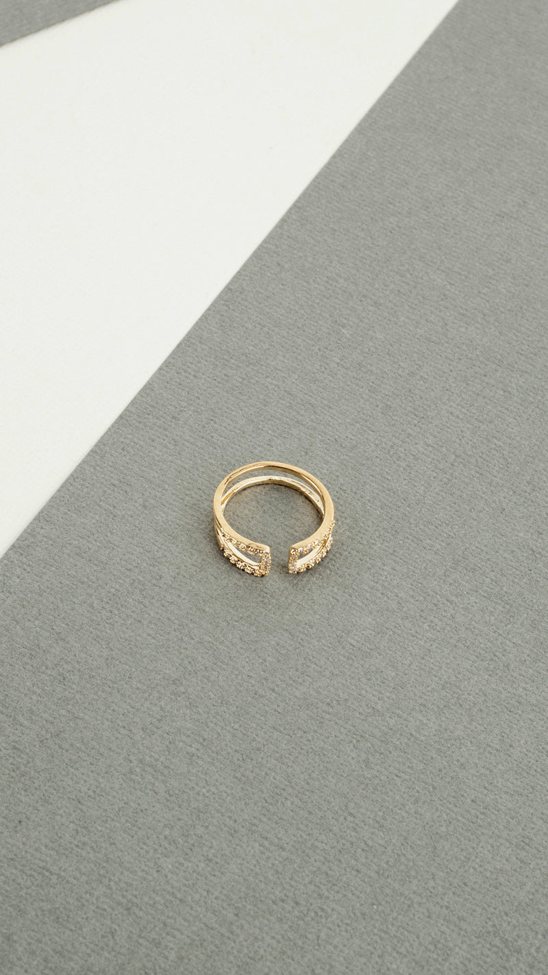 Double End Rhinestone Ring - Msky