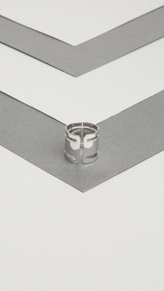Metal Cutout Band Ring