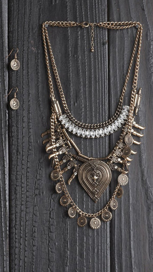 Aztec Queen Statement Necklace