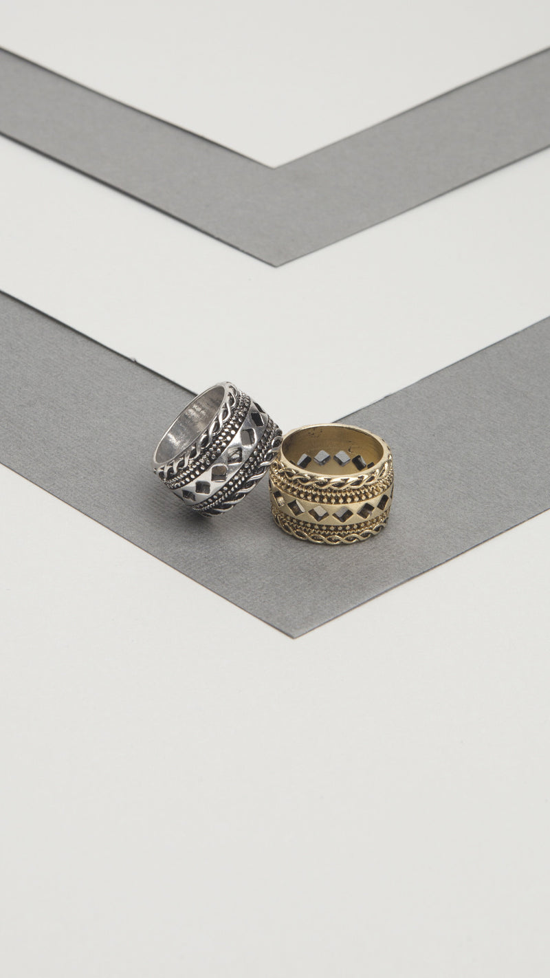 Thick Cutout Detail Ring