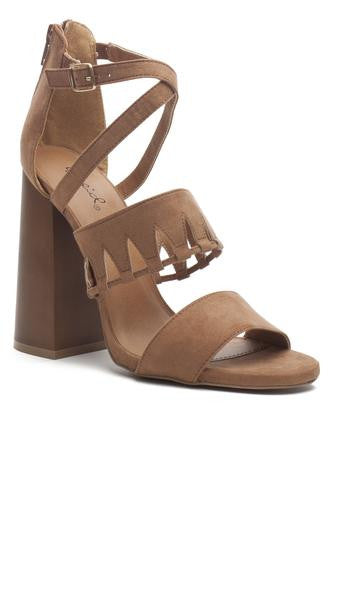 Cutout Strappy Sandal With Block Heel - Msky