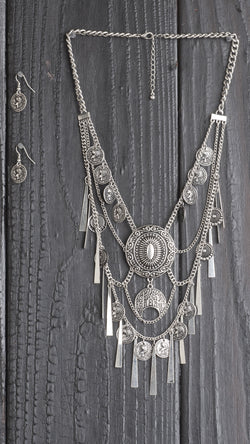 Coin Fringe Necklace - Msky