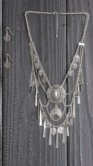 Coin Fringe Necklace