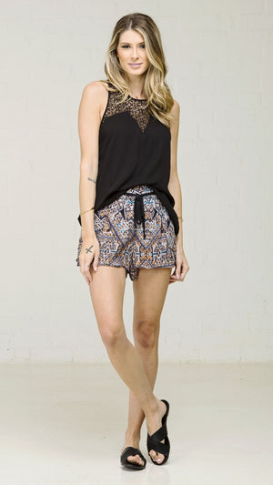 Drawstring Multi Print Shorts