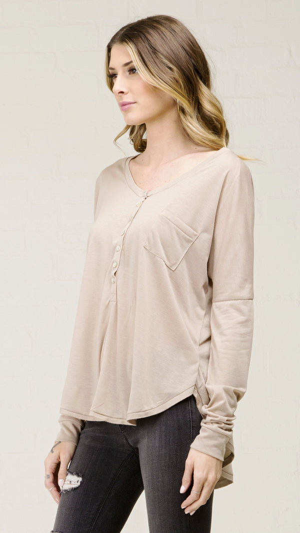 Long Sleeve High Low Top