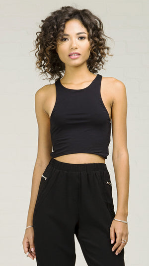 Basic Racerback Crop Tank Top