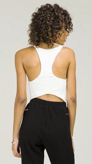 Basic Racerback Crop Tank Top - ANGL