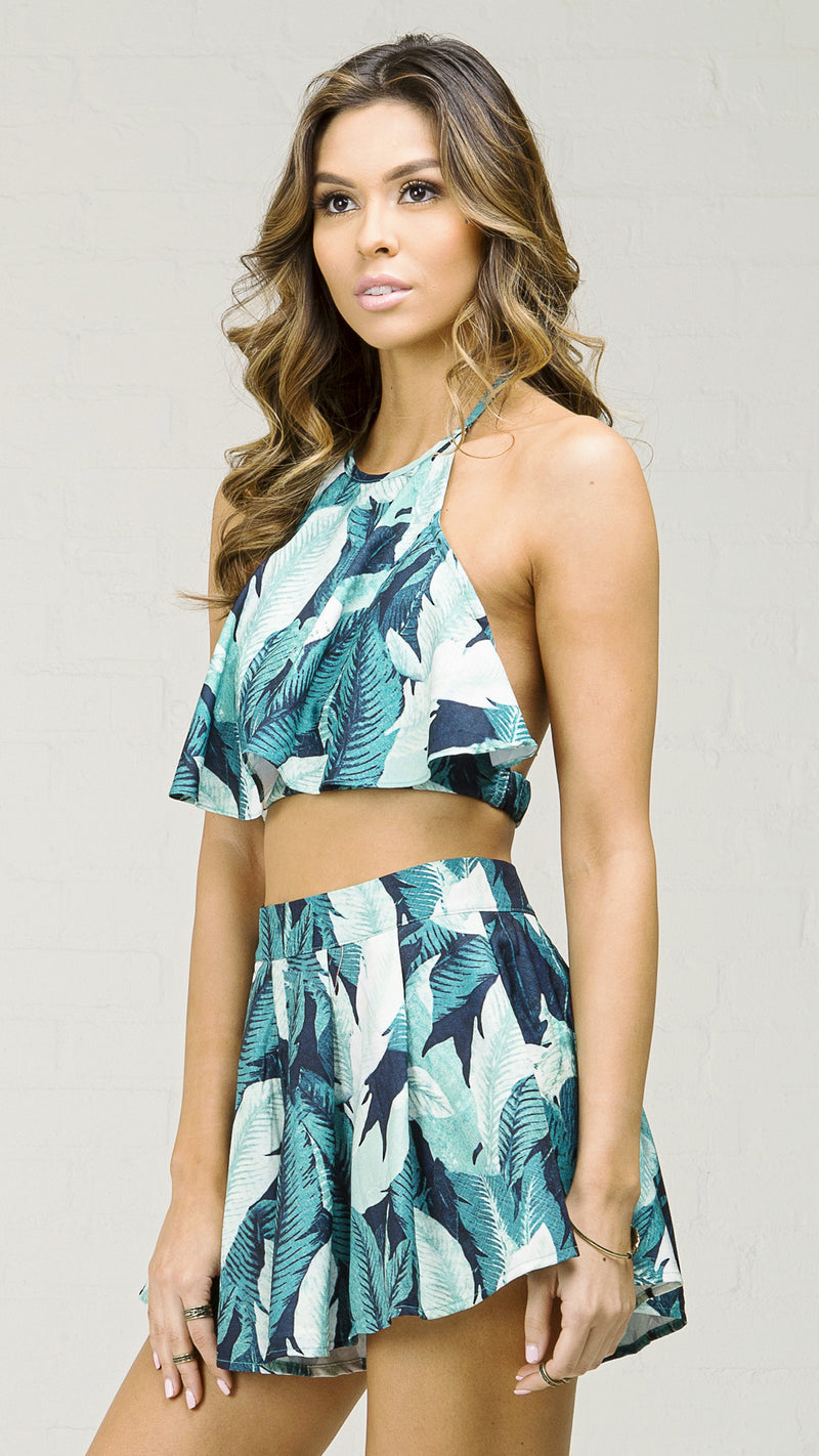 Tropical Bombay Flowy Crop Top