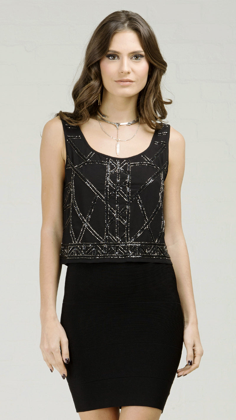 Sequin and Bead Detailed Tank Top