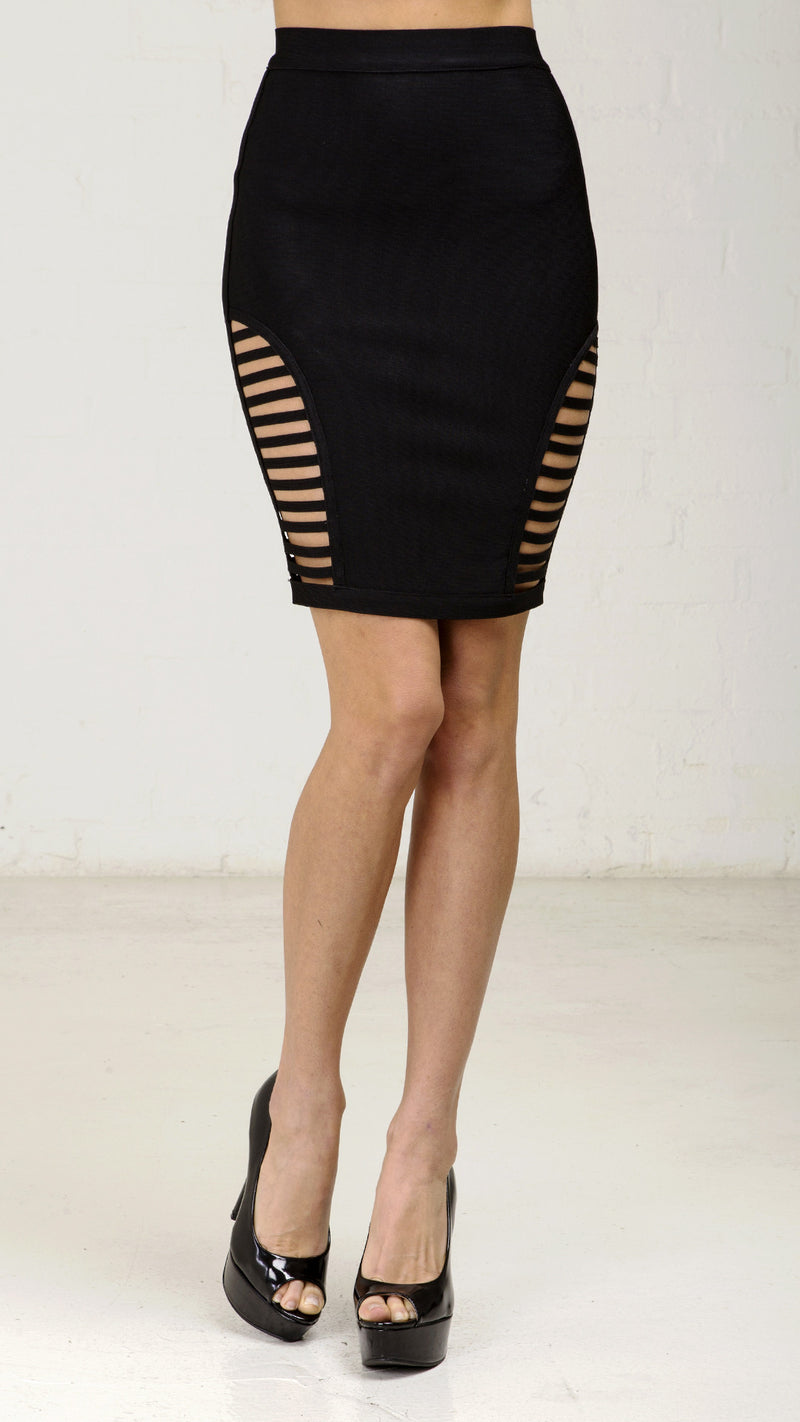 Side Cut Out Bandage Pencil Skirt