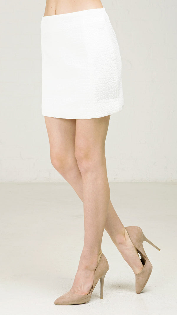 Snake Embossed Mini Skirt