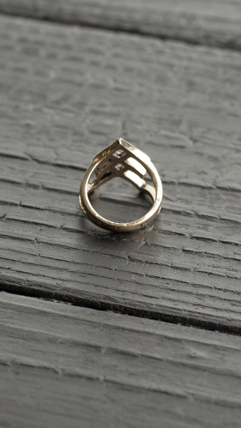 Sharp 3 Braid Ring
