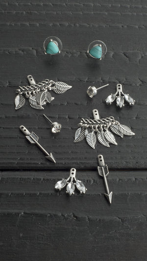 5 Piece Earring Set With Arrows - ANGL
