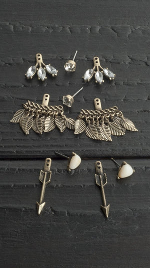 5 Piece Earring Set With Arrows