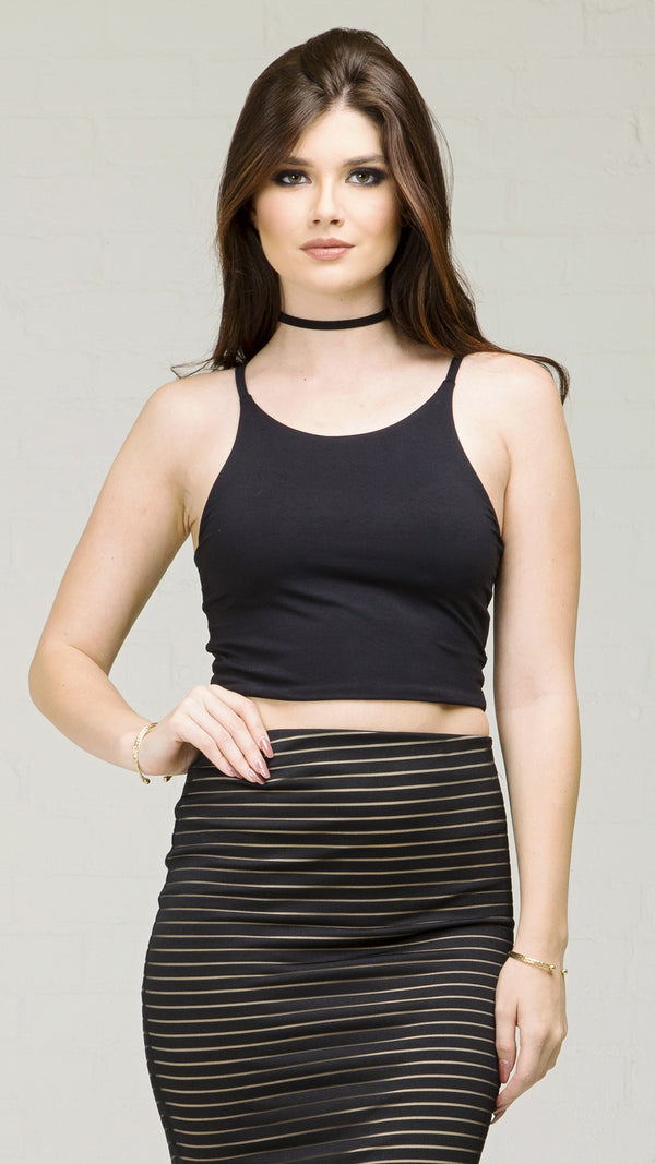 Stretchy Basic Cami Crop Top