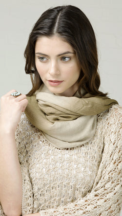 Smooth Olive Ombre Scarf
