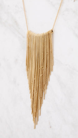 V Fringe Necklace
