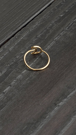 Simple Moon Ring