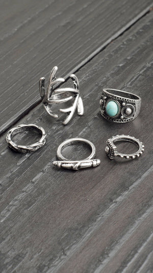 Nature Multiple Ring Set
