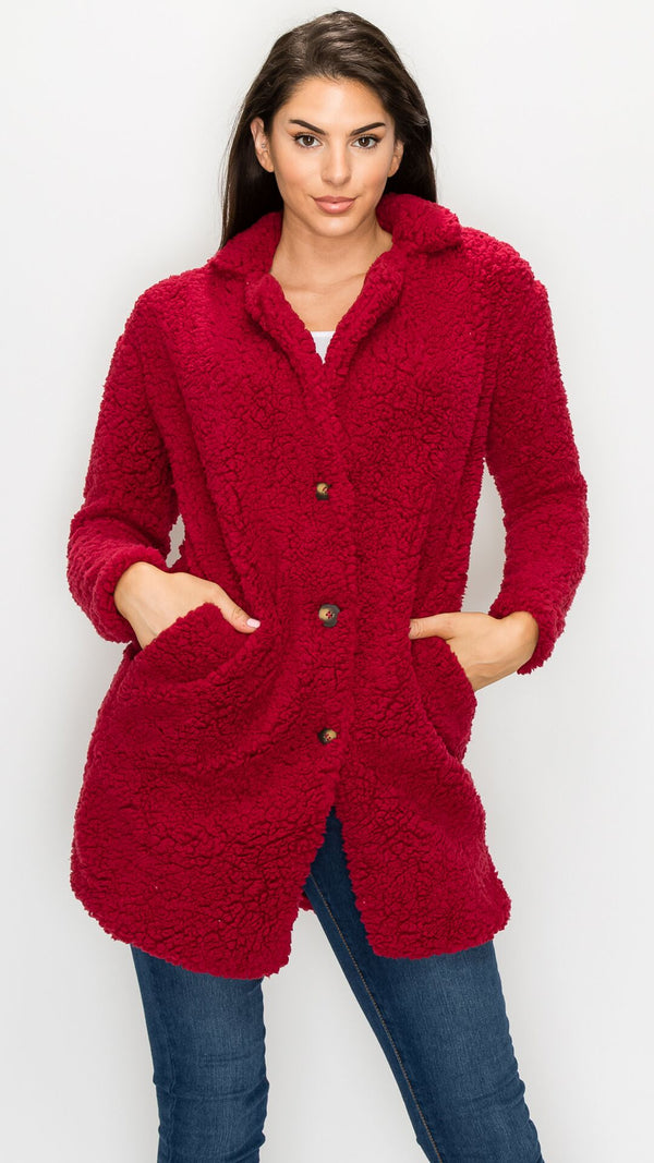Anna Fuzzy Long Jacket
