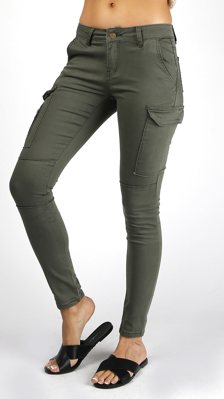 Cargo Pocket Denim Pants
