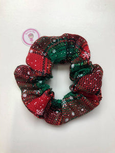 Christmas - Red & Green Wool Scrunchie