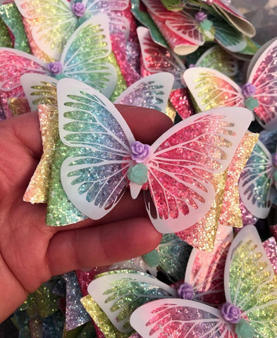 3.5inch Glitter Bright Butterfly Bow