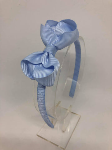 3inch Bow Alice Band - Bluebell