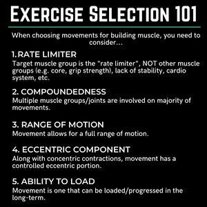 Choosing The Best Movements For Building Muscle [Exercise Selection 101]