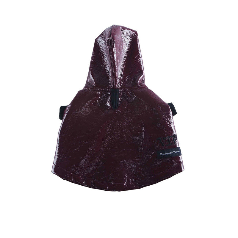 PLUM VINYL RAINCOAT