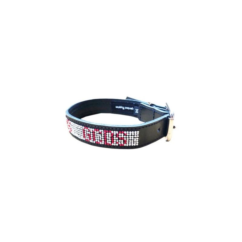 GCDS CRYSTALS BELT COLLAR