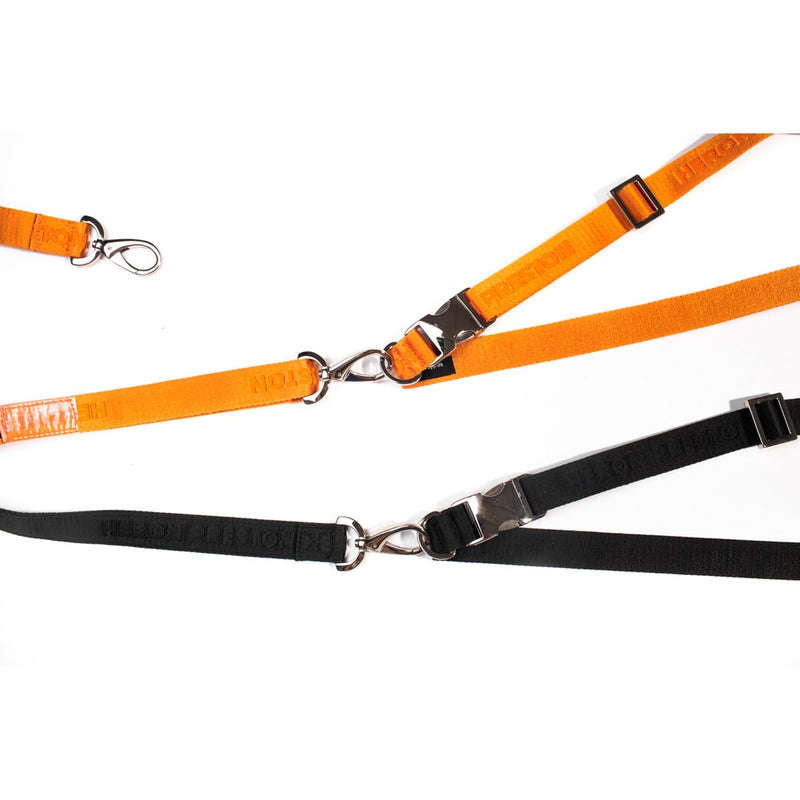 HERON PRESTON FULL LOGO BLACK TAPE LEASH & BELT