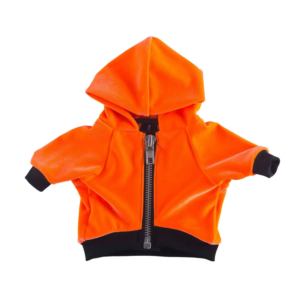 NEON ORANGE ZIPPER HOODIE