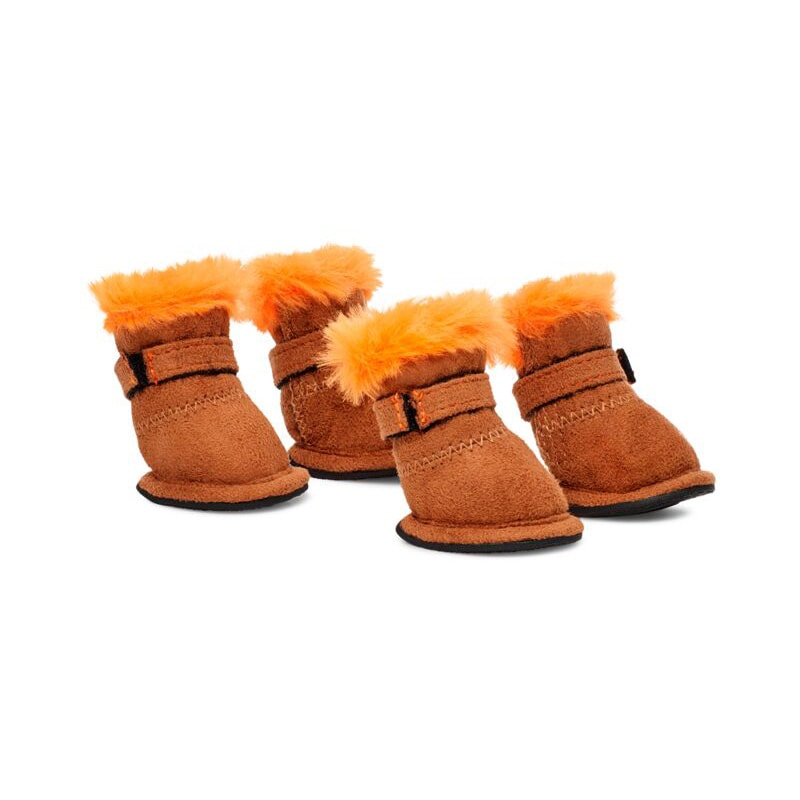 VIP x UGG dog booties - Chestnut
