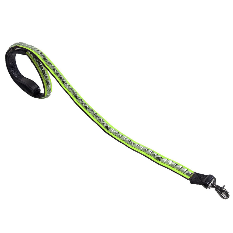 VIP NEON GREEN STUDDED LEASH