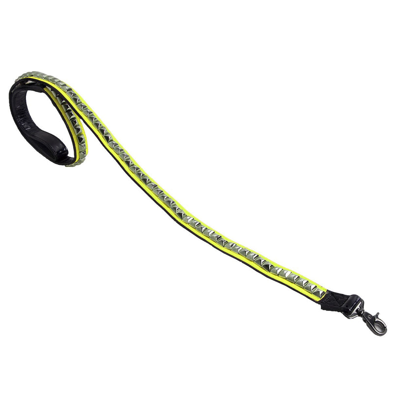 VIP NEON YELLOW STUDDED LEASH