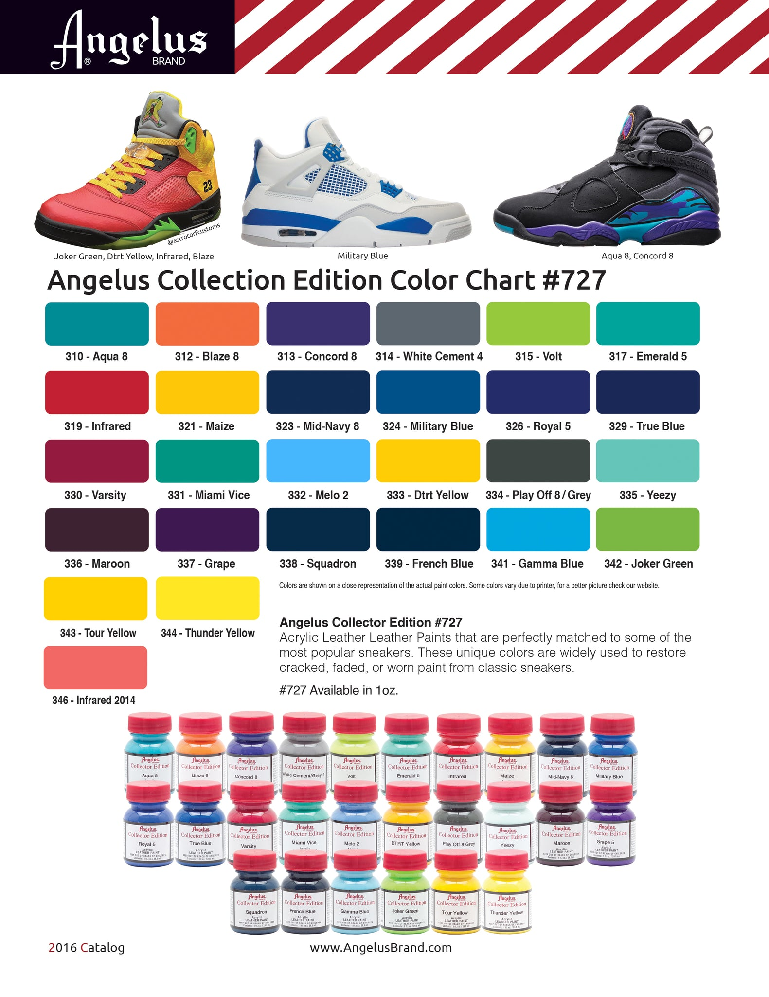 Angelus color charts angelus collector edition color chart geenschuldenfo Image collections