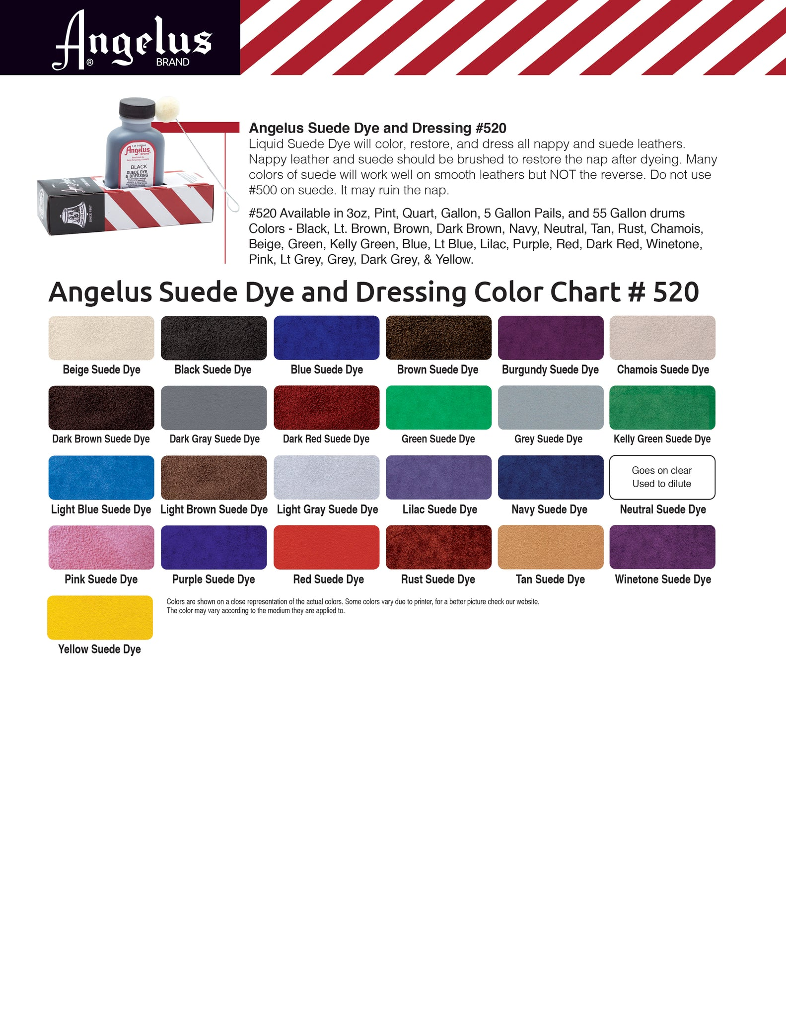 Angelus color charts angelus suede dye color chart nvjuhfo Choice Image