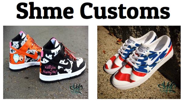the latest 1fefa 97e49 Portland, Oregon based artist Shme is the queen of custom canvas sneakers,  turning anything from Vans to Cons to Janowski s into a work of art.