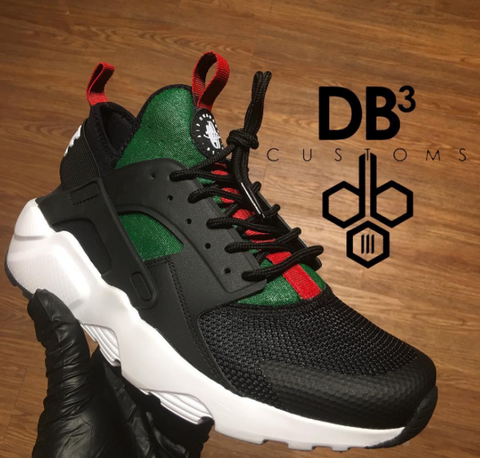 c1e05b9003f ... the iconic colorway looks better on everyone s favorite canvas of the  moment—the Nike Huarache. These four pairs by some talented customizers out  in the ...