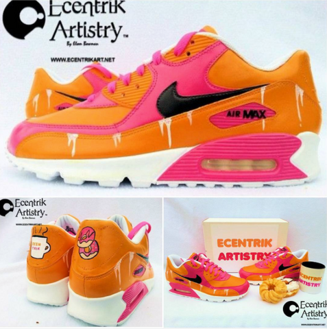3ebf73a682da Sneaker customizer Ecentrik Artistry recently paid homage to America s  favorite donut shop with this Dunkin  Donuts custom.